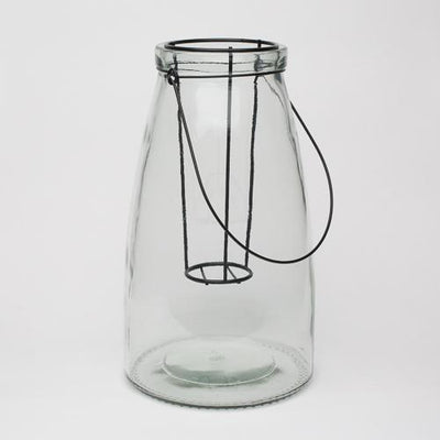 richland hanging glass holder with floating insert