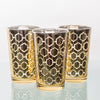 Richland Gold Hexagonal Glass Holder - Large Set of 48