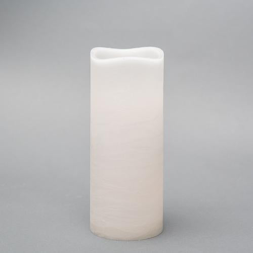 "Richland 4"" x 10"" Large LED Pillar Candle with Wavy Top - Set of 6"