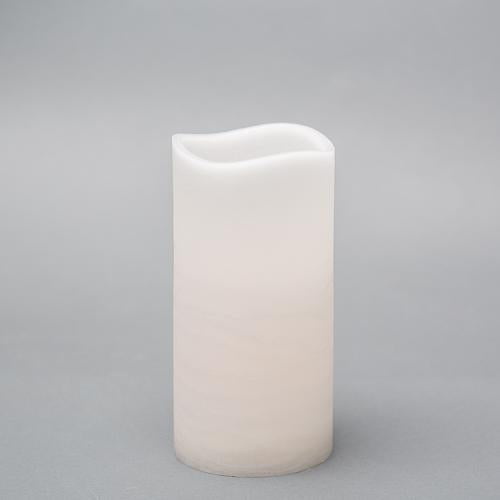"Richland 4"" x 8"" Large LED Pillar Candle with Wavy Top"