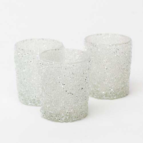 Richland Frosted Sparkle Votive Holder Set of 12