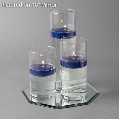 octagon mirror centerpiece candles set 36