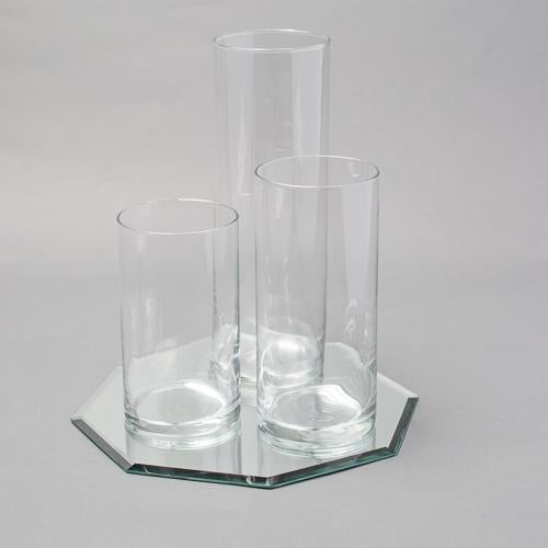 Eastland Octagon Mirror and Cylinder Vase Centerpiece Set of 48
