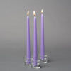 "Richland Taper Candles 10"" Lavender Set of 50"