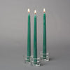 "Richland Taper Candles 10"" Dark Green Set of 10"