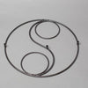 eastland black swirl shepherd hook base set of 4