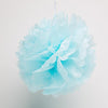 "Richland 10"" Tissue Paper Pom Poms, Turquoise Set of 10"