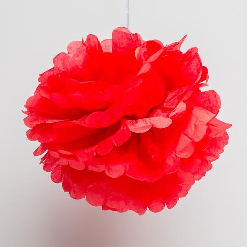 "Richland 14"" Tissue Paper Pom Poms, Red Set of 10"