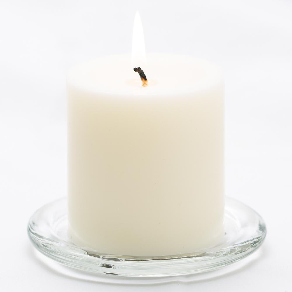 richland pillar candle 3 x3 light ivory