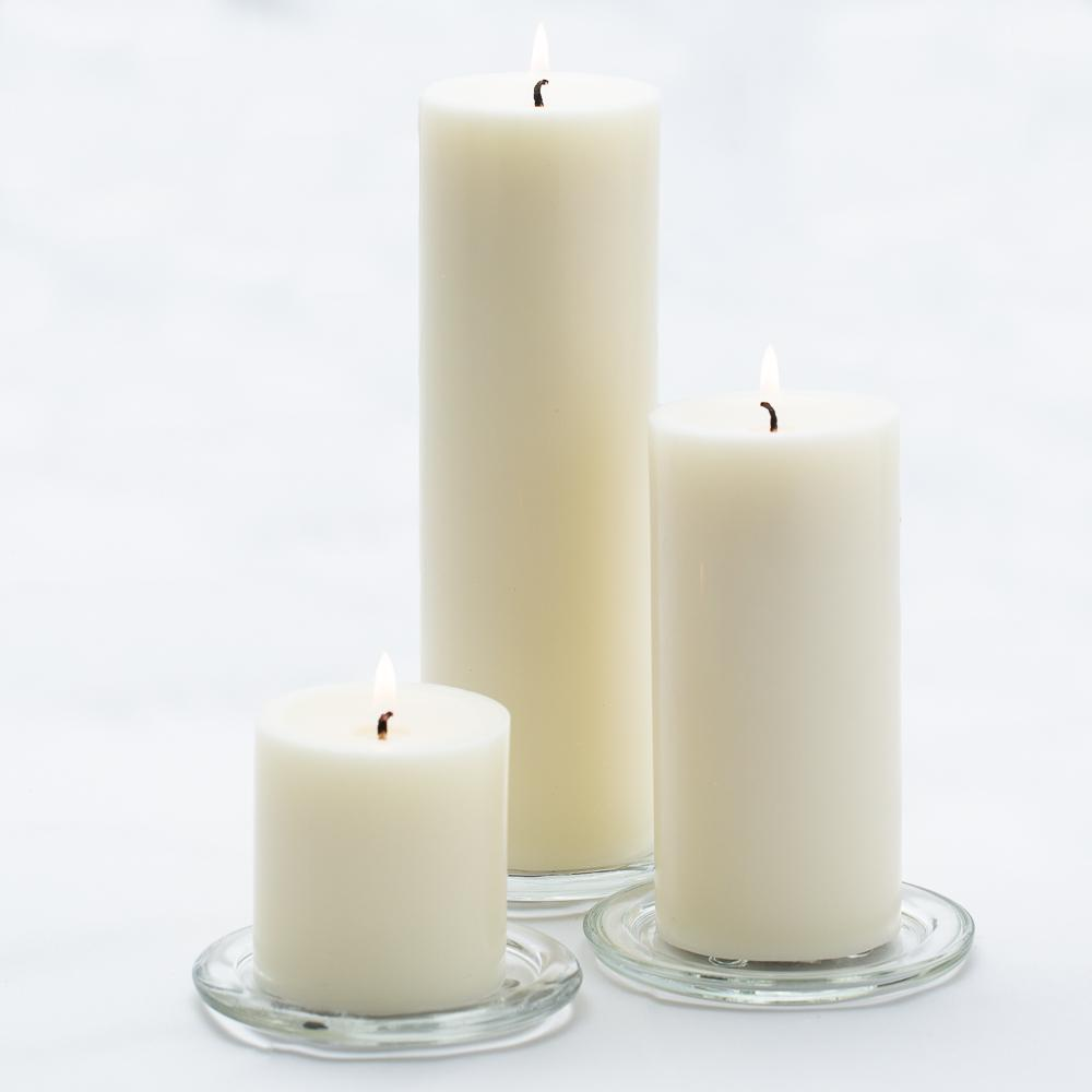 richland pillar candles 3 x3 3 x6 3 x9 light ivory set of 3