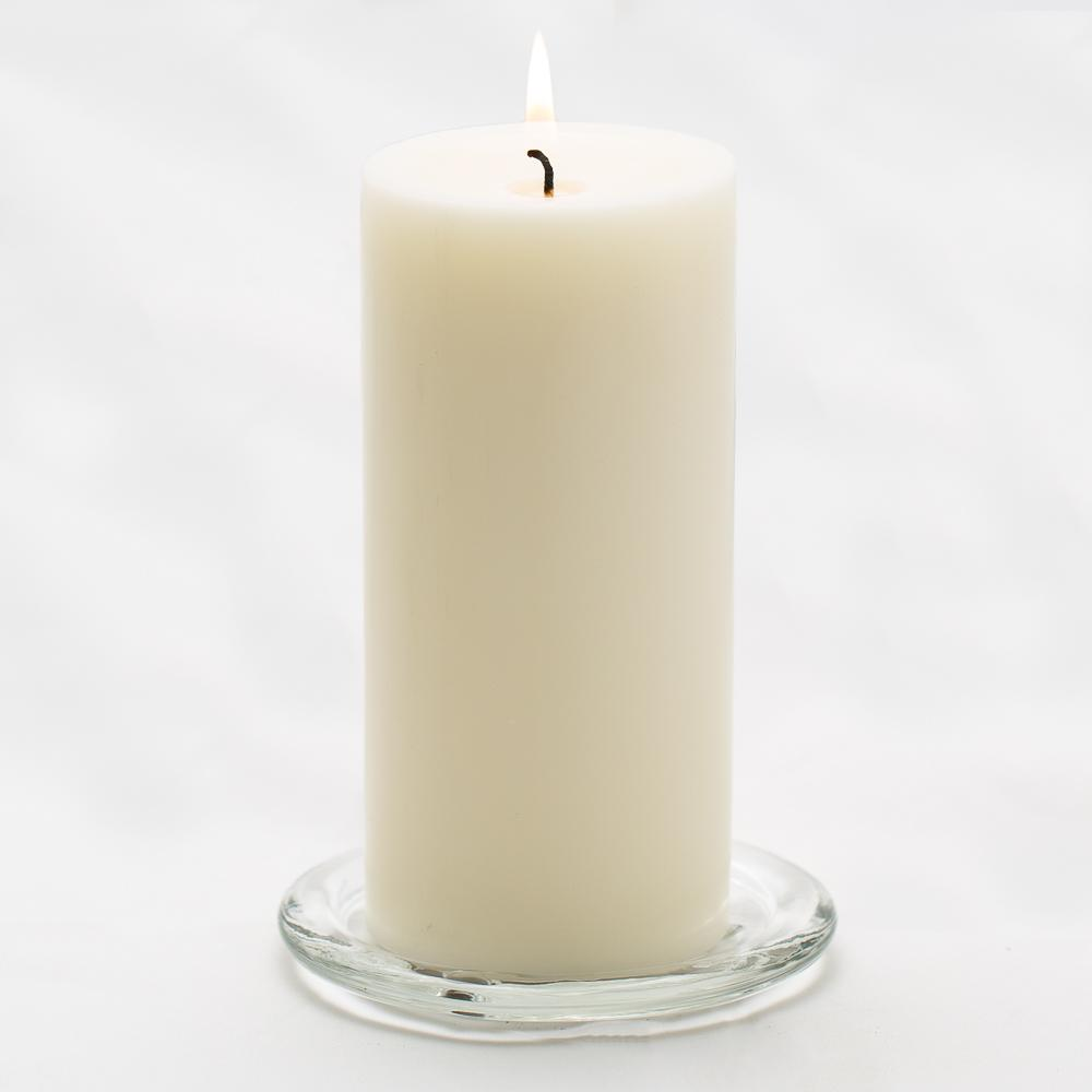 richland pillar candles 3 x6 light ivory set of 24