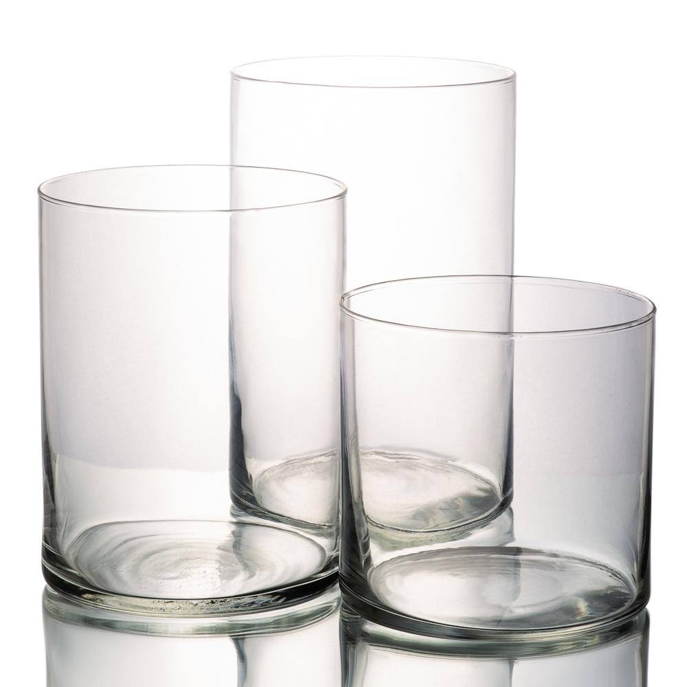"Richland Wide Cylinder Vase 6"" Set of 3"