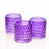richland purple chunky honeycomb glass votive tealight holder set of 6
