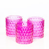 richland pink chunky honeycomb glass votive tealight holder set of 6