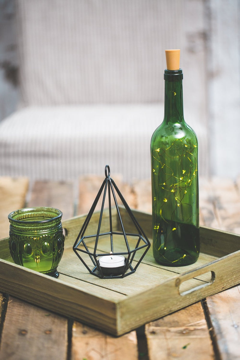 richland led wine cork string light amber