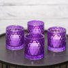 Richland Purple Chunky Honeycomb Glass Votive & Tealight Holder Set of 6