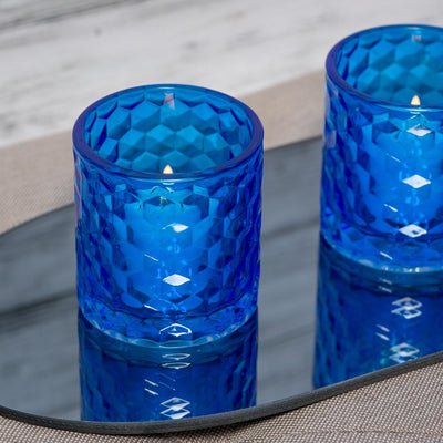 Richland Blue Chunky Honeycomb Glass Votive & Tealight Holder Set of 48
