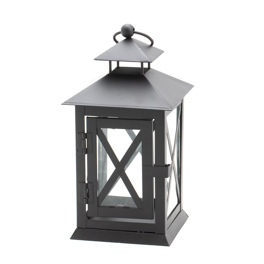 "Richland Noble Lantern Black Metal 7"" Set of 6"