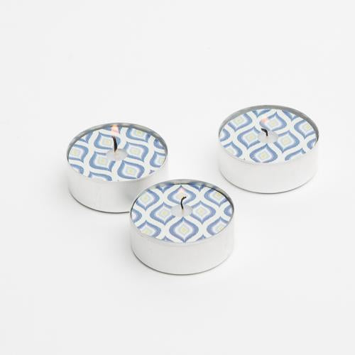 Vandko Nautical Blue Water Pattern Spotlite Tealight - Set of 60
