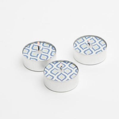 Vandko Nautical Blue Water Pattern Spotlite Tealight - Set of 6