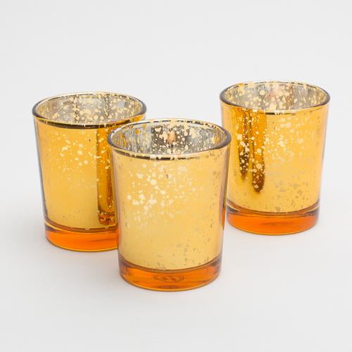 Richland Amber Gold Mercury Votive Holders Set of 72