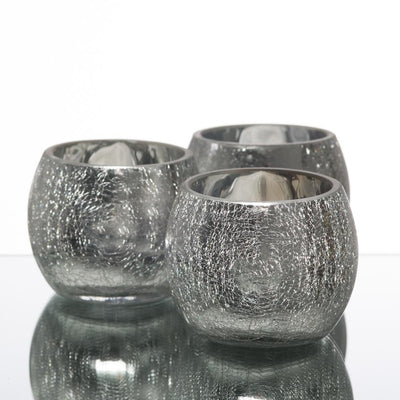 richland silver crackle hurricane holder set of 12