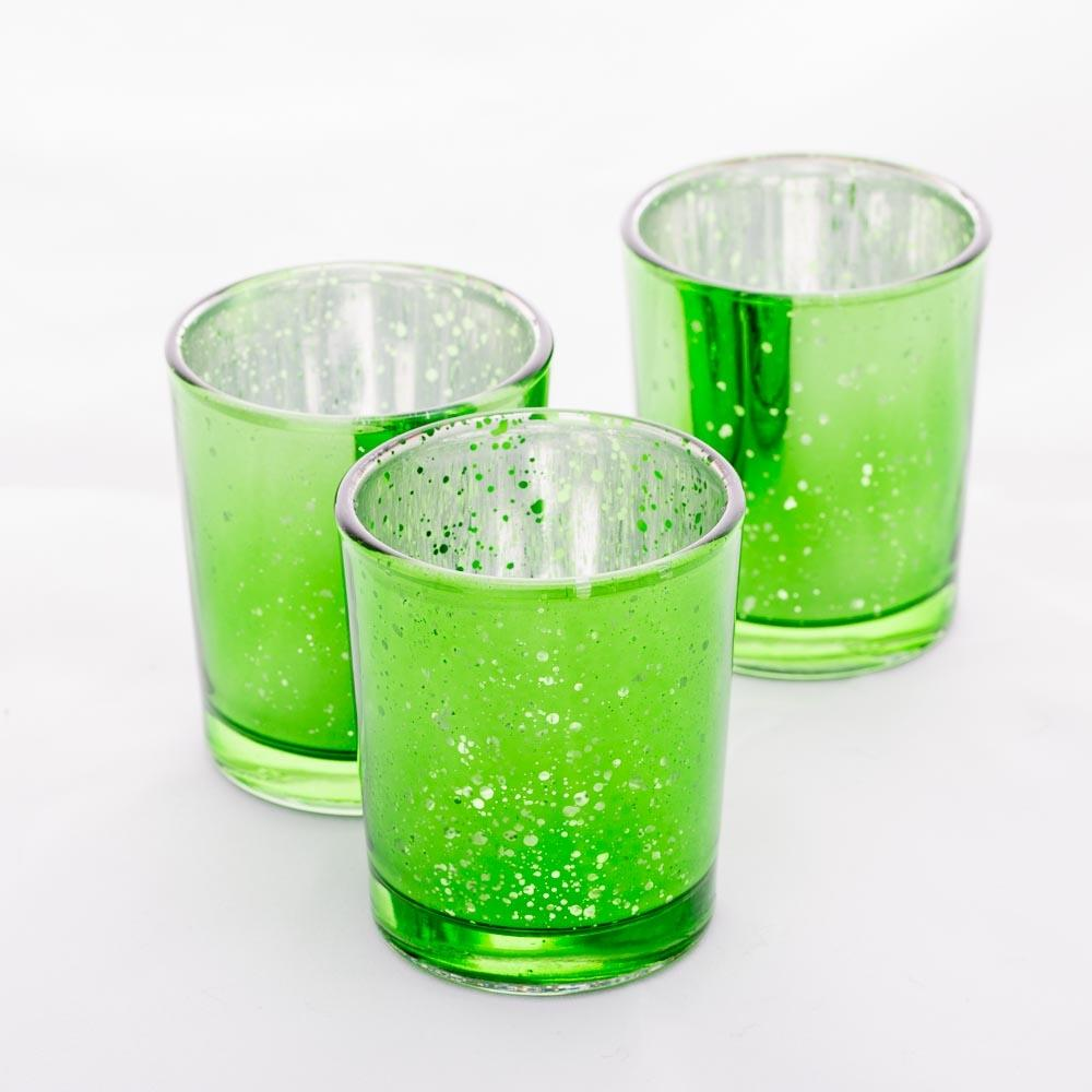 Richland Votive Holders Green Mercury Set of 12