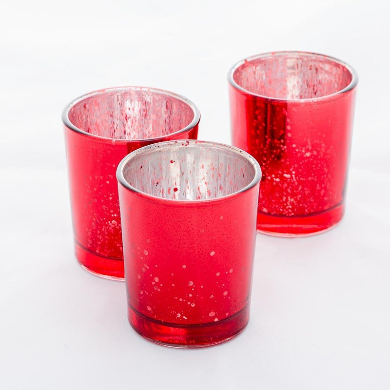 Richland Votive Holders Red Mercury Set of 12