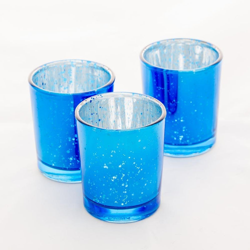 Richland Votive Holders Blue Mercury Set of 12