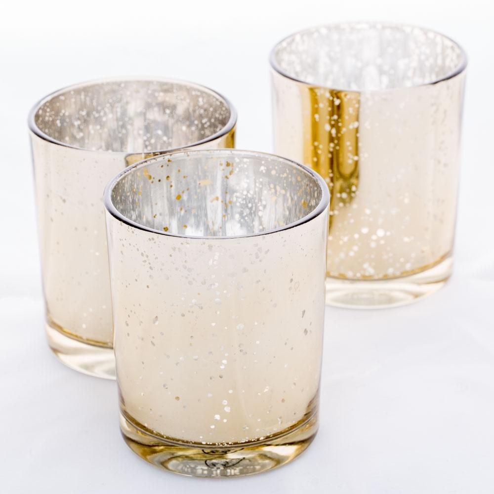 Richland Votive Holder Grande Gold Mercury Set of 12