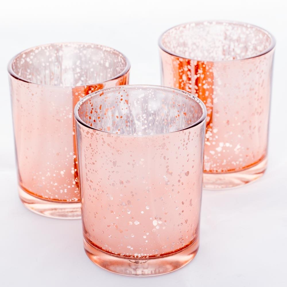 Richland Votive Holder Grande Rose Gold Mercury Set of 12