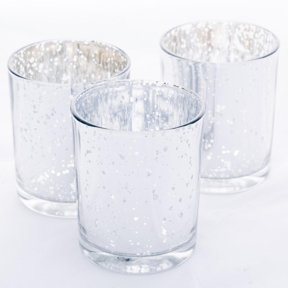 Richland Votive Holder Grande Silver Mercury Set of 12