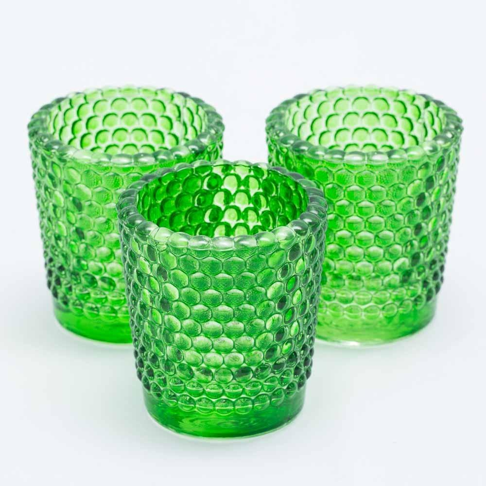 richland votive holder hobnail green set of 12