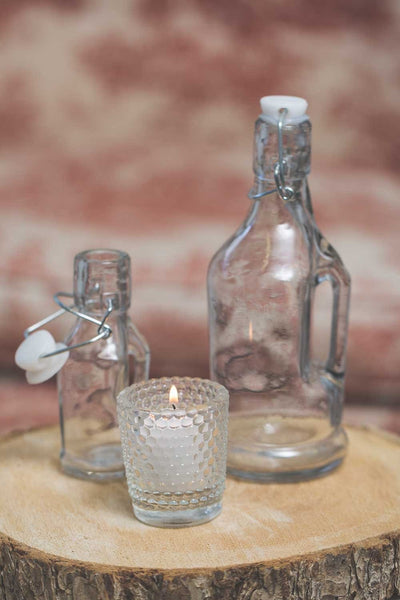 richland small glass jar with topper set of 48