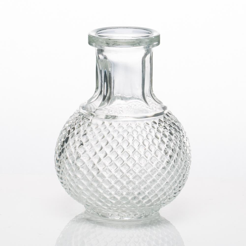 richland glass bud vase clear round perfume set of 12
