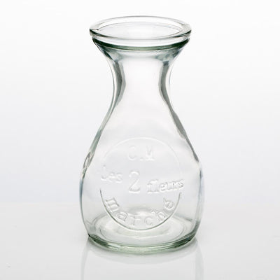 richland glass bud vase clear teardrop set of 36