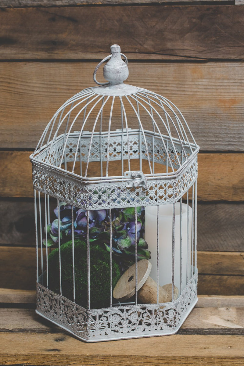 richland lettie bird cage antique white set of 3