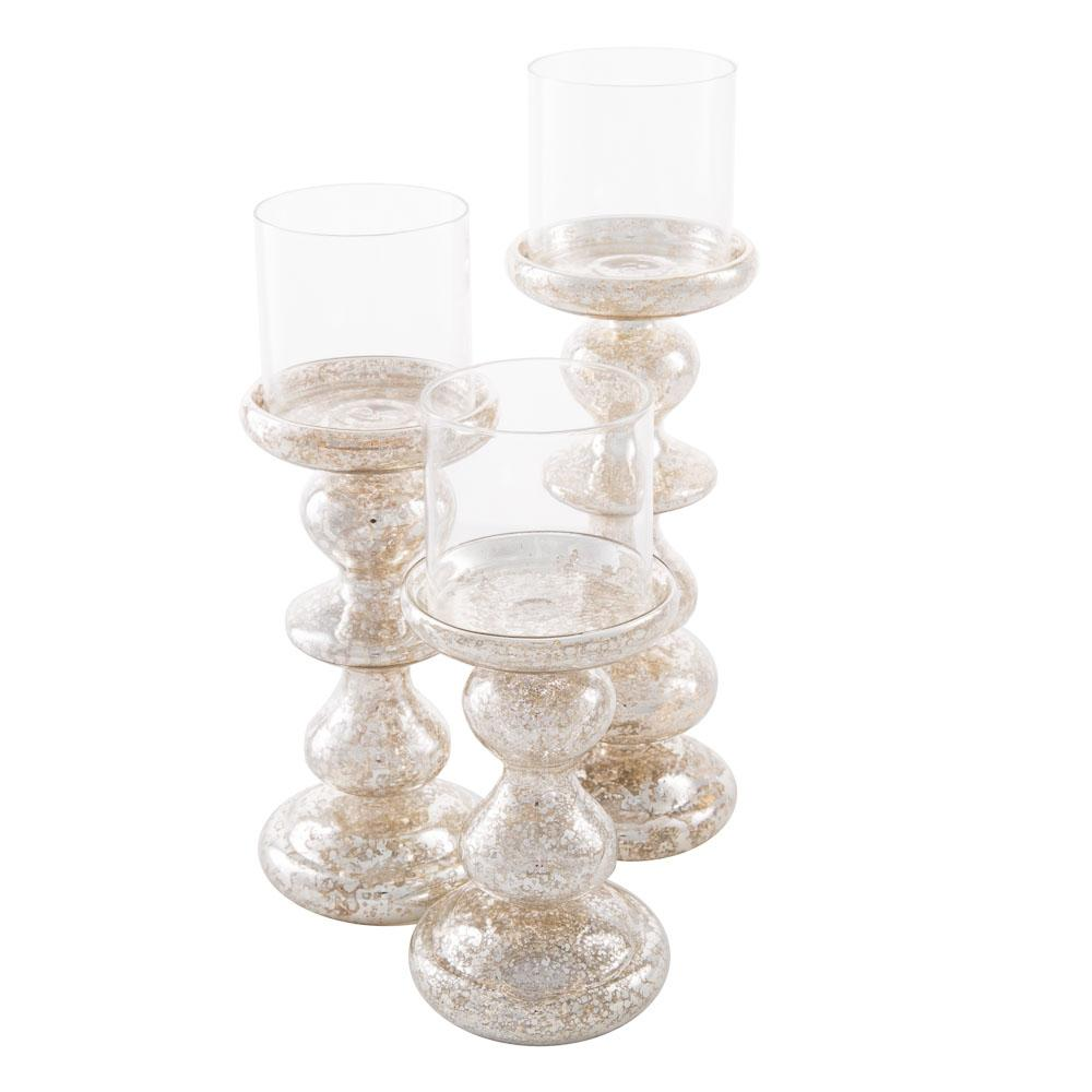 richland elegant mercury candle holder set of 3