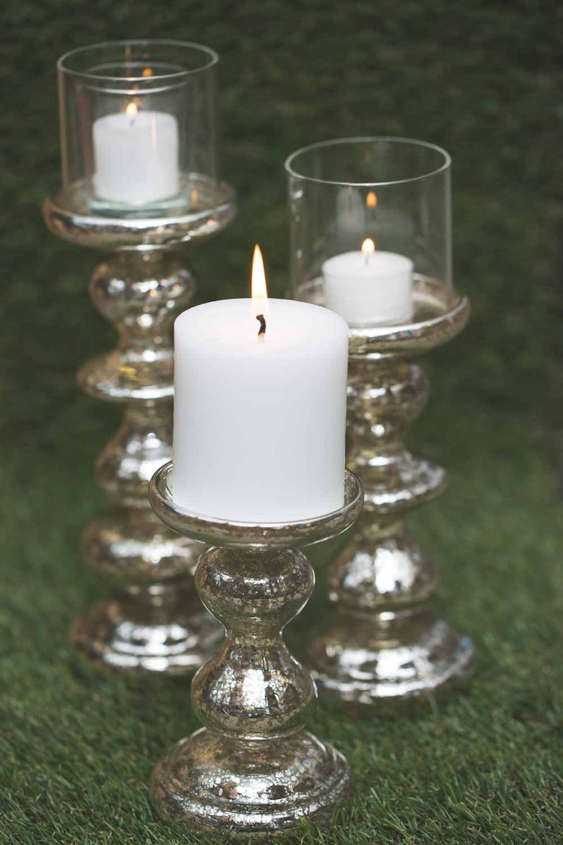 richland elegant mercury candle holder 6