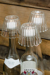 Richland Inza Wine Bottle Chandelier Glass Tealight Holder Set of 12