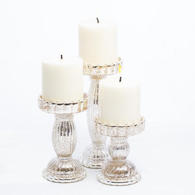 richland rayner mercury pillar candle holder set of 3