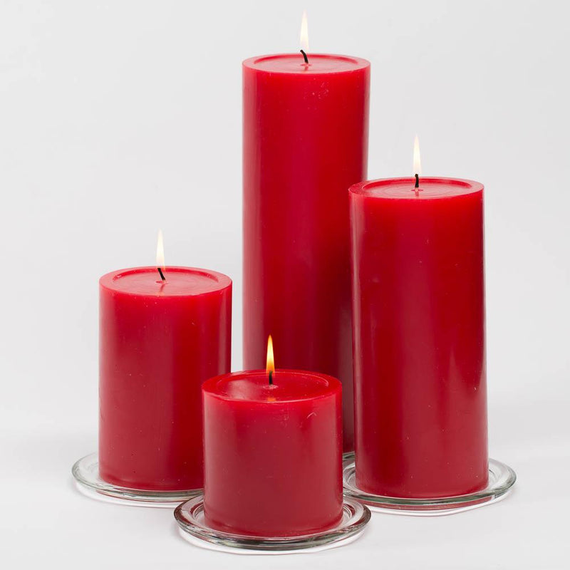 richland 4 x 4 red pillar candle