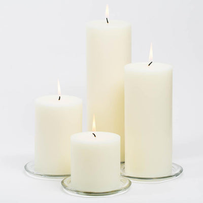 richland 4 x 12 ivory pillar candle set of 6
