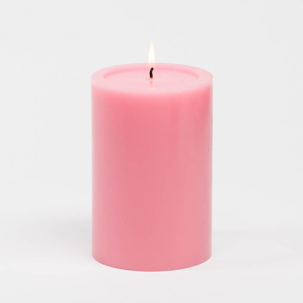 "Richland 4"" x 6"" Pink Pillar Candles Set of 6"