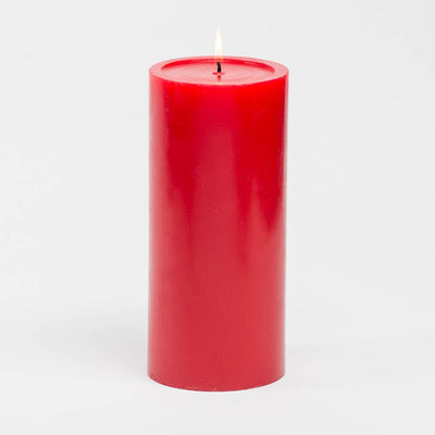"Richland 4"" x 9"" Red Pillar Candles Set of 6"