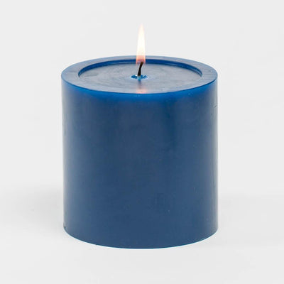 "Richland 4"" x 4"" Navy Blue Pillar Candles Set of 6"