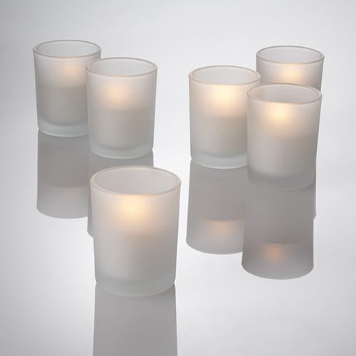 votive frosted holders set 12