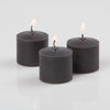 richland votive candles unscented black 10 hour set of 12
