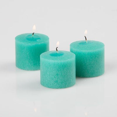 richland votive candles unscented aqua green 10 hour set of 144