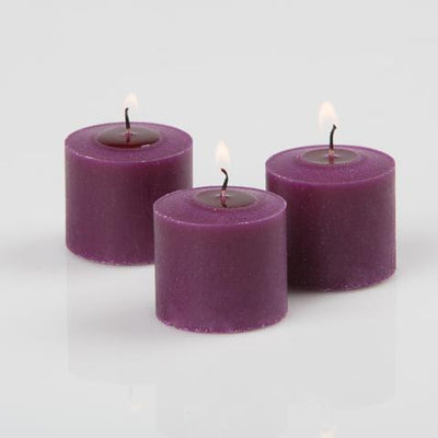 richland votive candles unscented purple 10 hour set of 12